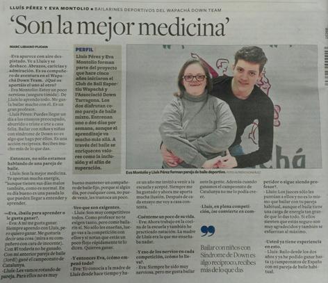 Entrevista a la premsa a una parella Combi - DOWN  | Federació Catalana de Ball Esportiu