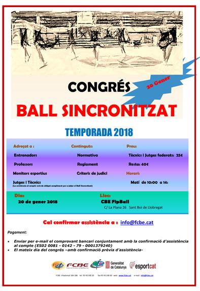 Inscripcions Congrés de Ball Sincronitzat   | Federació Catalana de Ball Esportiu