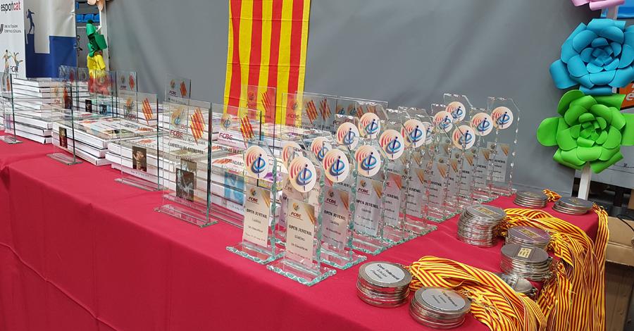 Campionats de Catalunya 2018. Medallers