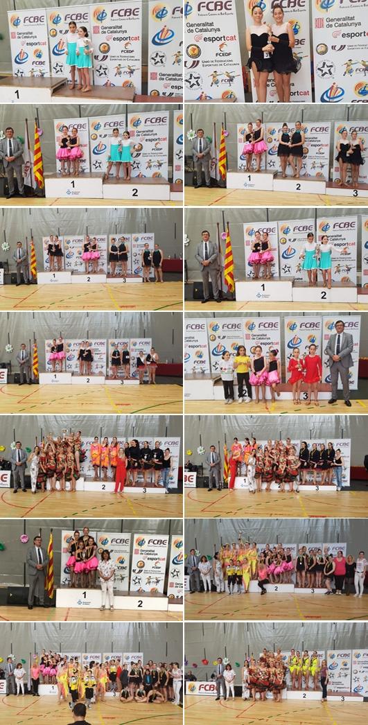 II Campionats Catalunya de Ball Sincronitzat 2018. Imatges Pòdiums   | Federació Catalana de Ball Esportiu