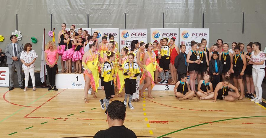 II Campionats Catalunya de Ball Sincronitzat 2018. Imatges Pòdiums
