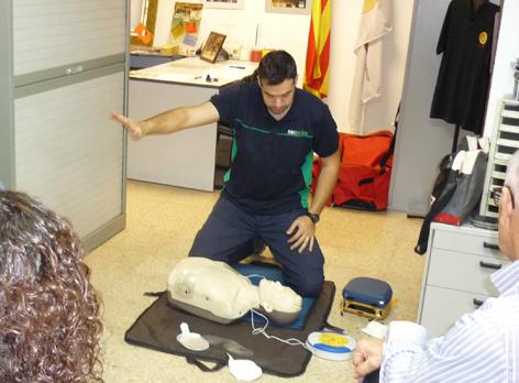 Realització curs Suport Vital Bàsic (SVB) i Utilització DEA 2018  | Federació Catalana de Ball Esportiu