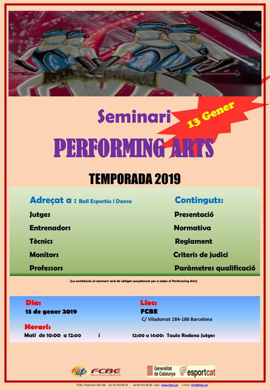 Seminari de Performing Arts. Pre-inscripció   | Federació Catalana de Ball Esportiu