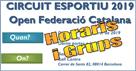 2a Prova Circuit Ball Esportiu Català 2019. Barcelona. Horaris i grups