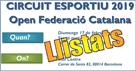 2a Prova Circuit Ball Esportiu Català 2019. Barcelona. Llistats