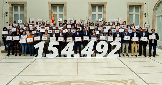 Entrega signatures ILP al Parlament | Federació Catalana de Ball Esportiu