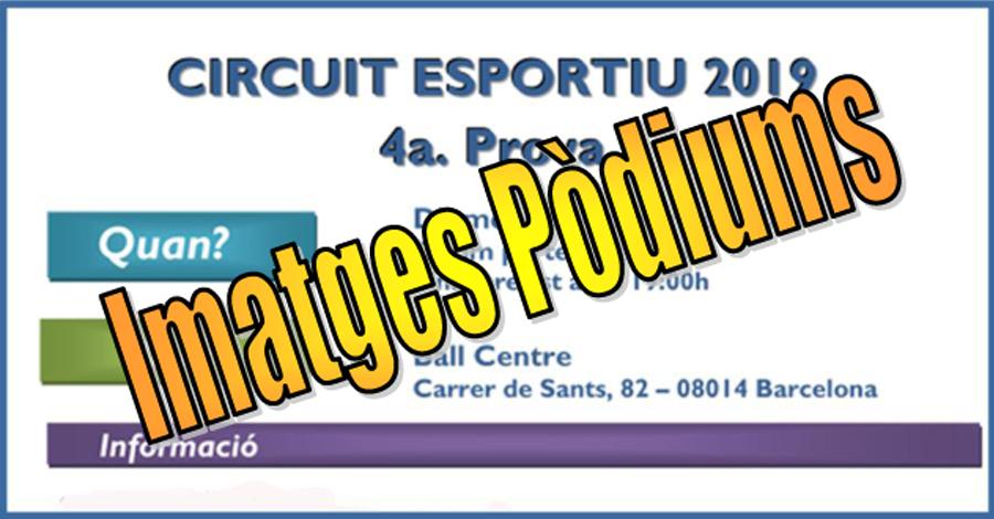 4a Prova Circuit Ball Esportiu Català 2019. Barcelona. Imatges dels Pòdiums