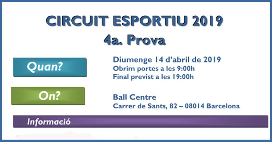 4a Prova. Barna (Ball Centre)
