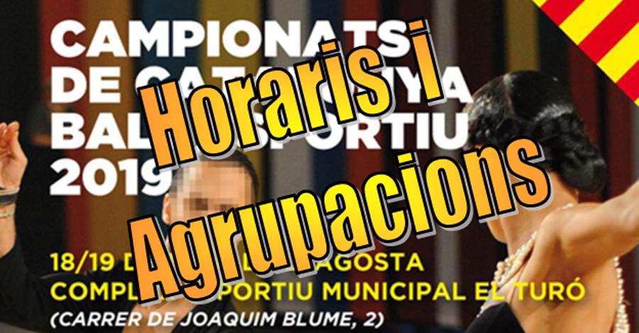 Campionats de Catalunya de Ball Esportiu. Horaris i agrupacions