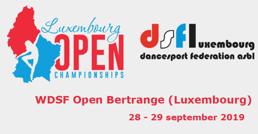WDSF Open Bertrange (Luxembourg) 2019. Resultats