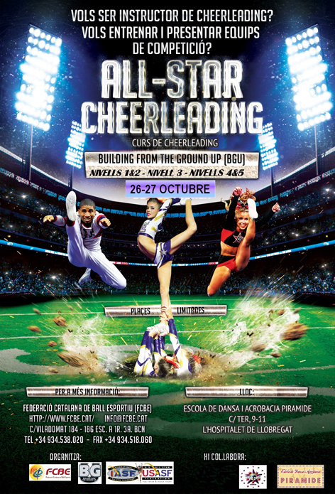 Cursos Instructors All Star Cheerleading BGU - FCBE 2019 | Federació Catalana de Ball Esportiu