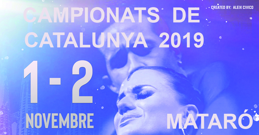 Campionats de Catalunya 2019 (Estàndards i Llatins). Pòster