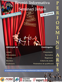 Seminari de Jutges Performing Arts i reunió informativa