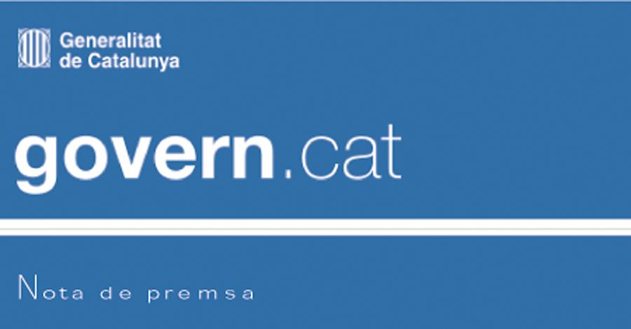 Nota de premsa de PROCICAT (Generalitat Catalunya)