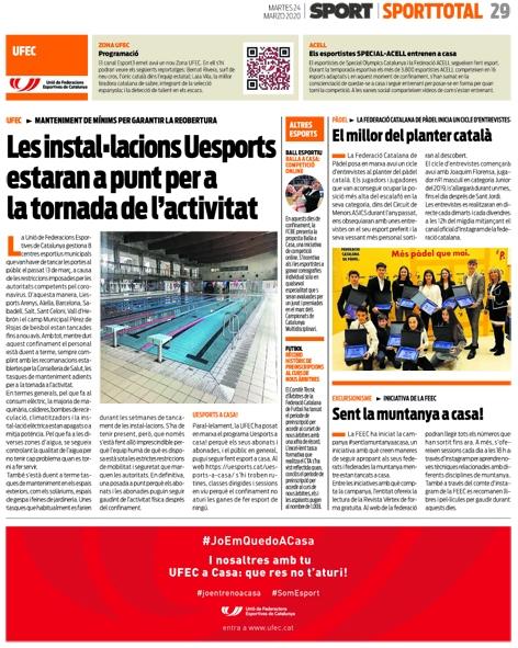 Balla a casa al diari Sport | Federació Catalana de Ball Esportiu