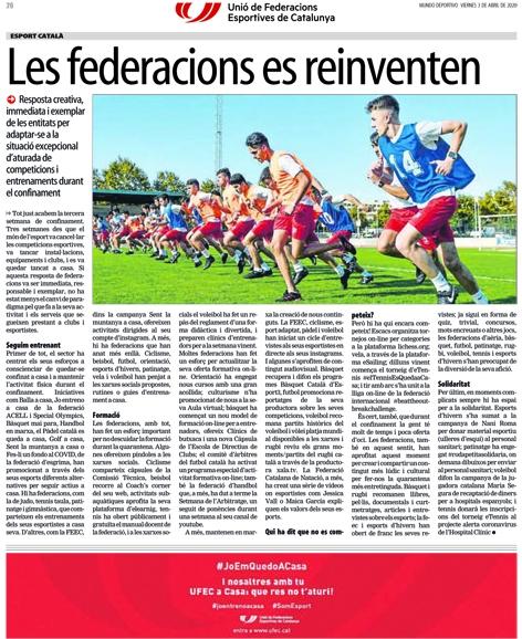Les federacions es reinventen (UFEC) | Federació Catalana de Ball Esportiu