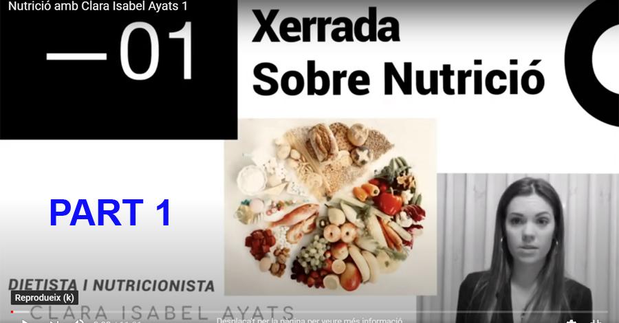 COVID-19. Recomanacions nutricionals (Part 1 de 2)
