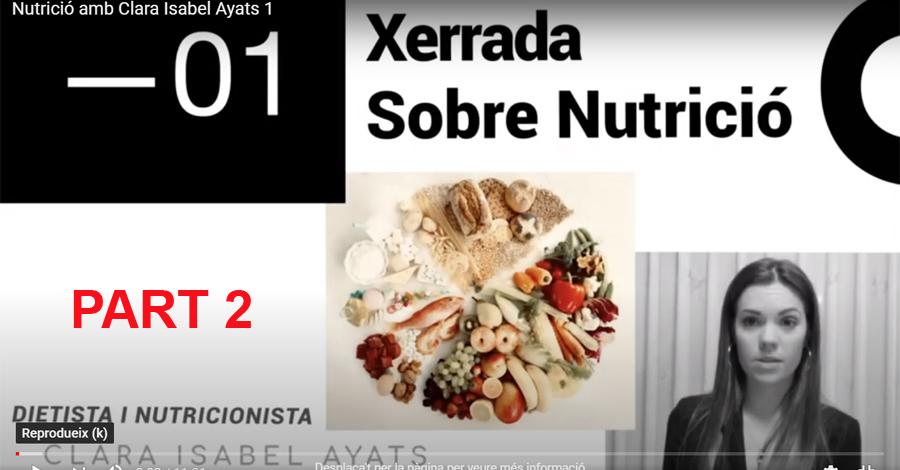 COVID-19. Recomanacions nutricionals (Part 2 de 2)