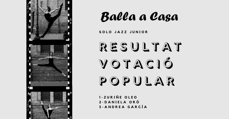 Balla a Casa. Classificació i Rànquing Solo JAZZ Júnior