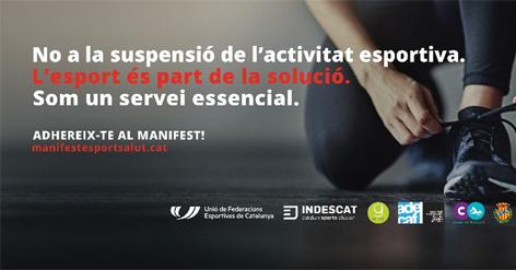 Adhesió al manifest: L'ESPORT ÉS SALUT   Federació Catalana de Ball Esportiu