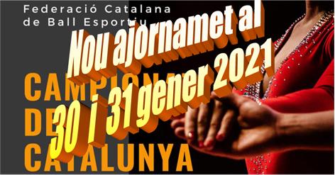 Campionats de Catalunya a Platja d'Aro. Nou ajornament | Federació Catalana de Ball Esportiu