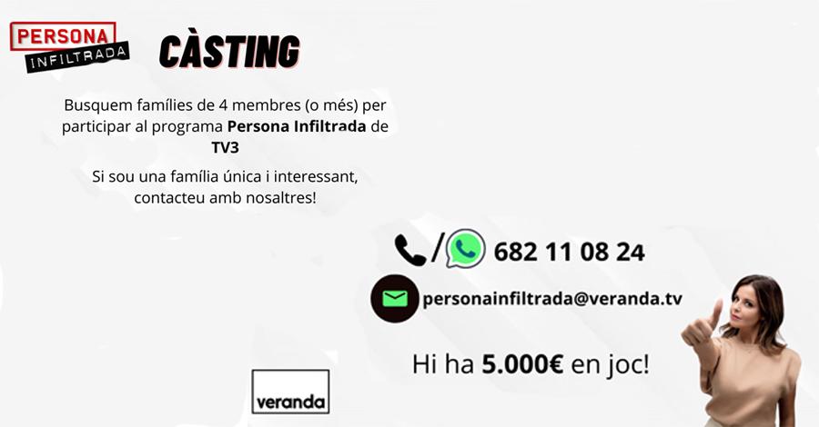 Càsting de TV3 per al programa Persona Infiltrada