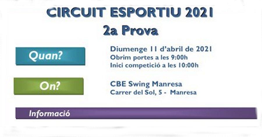 2a Prova Circuit Ball Esportiu Català 2021. Swing Manresa. Llistat
