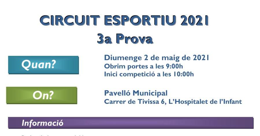 3a Prova Circuit Ball Esportiu Català 2021 - l'Hospitalet de l'Infant. Informació