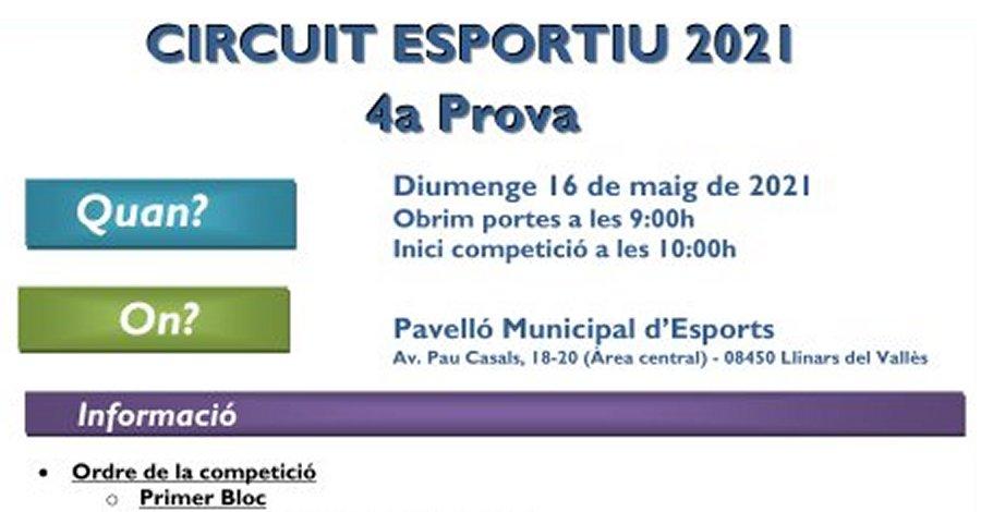 4a Prova Circuit Ball Esportiu Català 2021 - Llinars del Vallès. Informació