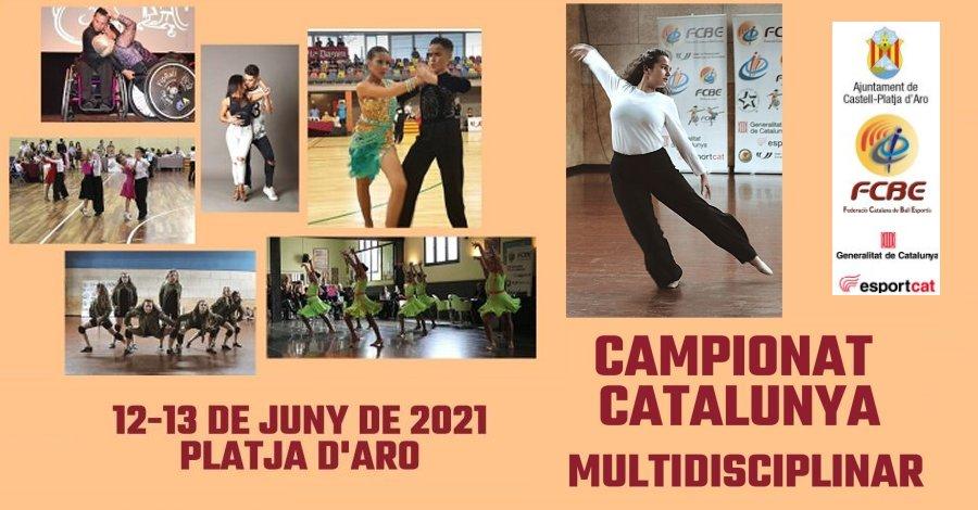 Campionats de Catalunya Multidisciplinars 2021 Platja d'Aro. Programació i Hotel