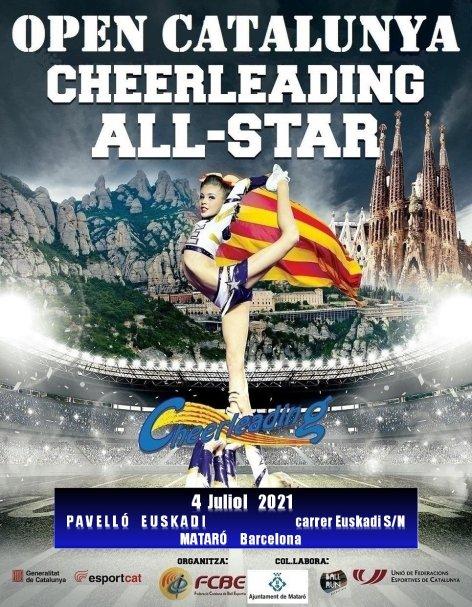 Open Catalunya Cheerleading 2021. Pòster | Federació Catalana de Ball Esportiu
