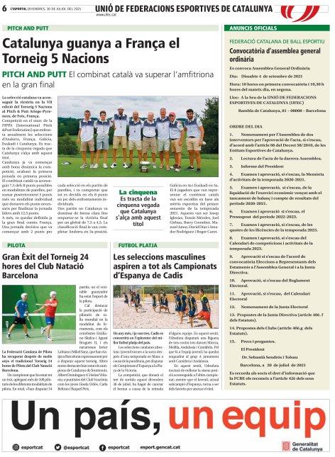Convocatòria Assemblea General Ordinària de la FCBE 2021 | Federació Catalana de Ball Esportiu