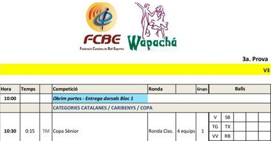 3a Prova Circuit Ball Esportiu Català 2021 - l'Hospitalet de l'Infant. Horaris