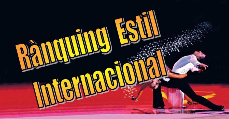 Rànquing Estil Internacional (Combinat Estàndards - Llatins)