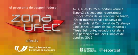 ZONA UFEC - Televisió (UCWDC Star's Line i Campionat de Catalunya LD&CWD 2012) | Federació Catalana de Ball Esportiu